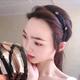 Korean fashion new and beautiful exquisite hair hoop head hoop wild diamond mesh knotted hair hoop head hoop head buckle ladies hair hoop NHSC187018