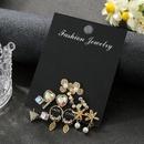 Tassel earrings with colored crystal pearl studs NHSD186954