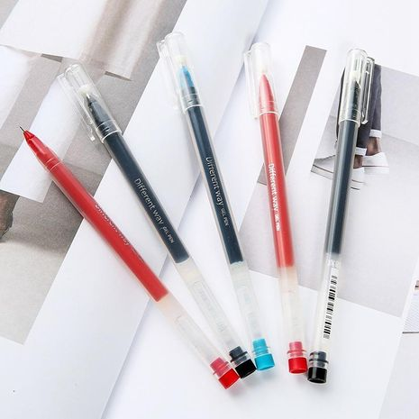 True Color Needle Gel Pen Student 0.5mm Blue Writing Pen Stationery NHHE186873's discount tags