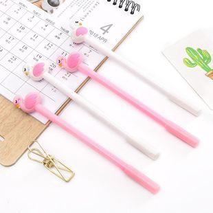 Cute Soft Girl Flamingo Gel Pen NHHE186889's discount tags