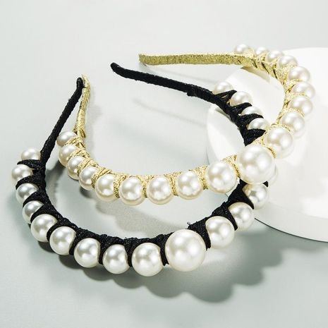 Europe and the United States set pearl hair hoop winding thin edge hair accessories fashion head buckle NHLN187262's discount tags