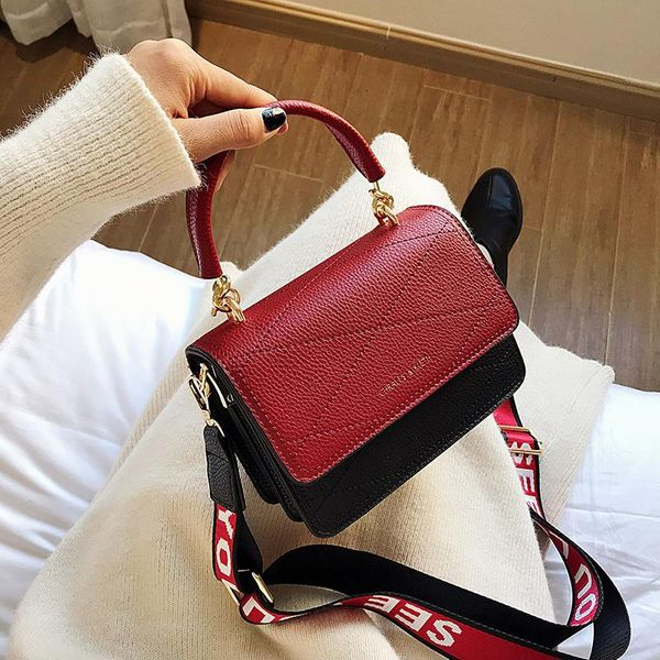 Shoulder Strap Wild Fashion Contrast Hand Bag Shoulder Bag NHLD187251