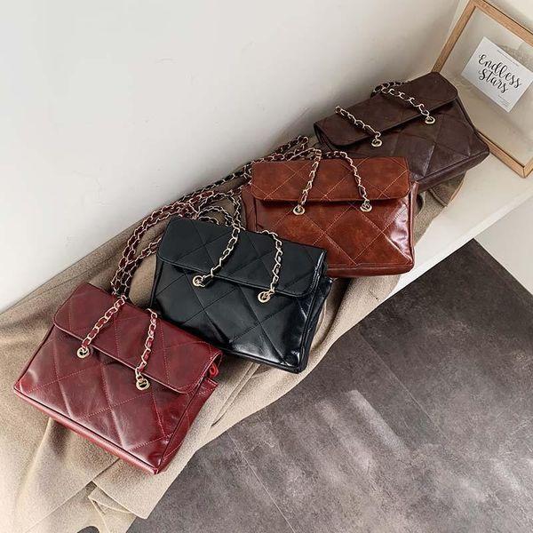 Personalized diamond chain shoulder bag simple and stylish wild crossbody bag NHPB187182