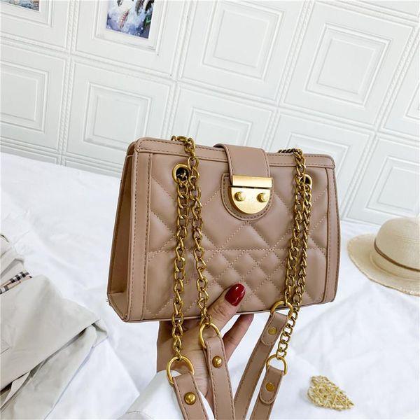 Cute wild lock single shoulder messenger small square bag women NHPB187183