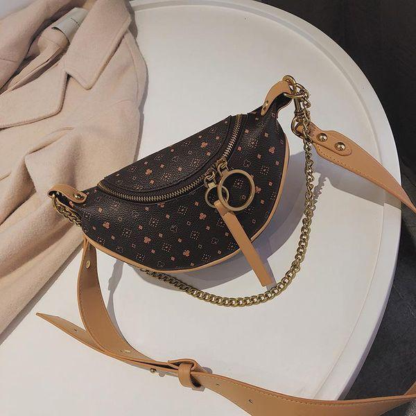 Presbyopia chain waist bag saddle bag simple fashion ring shoulder shoulder diagonal bag NHPB187032