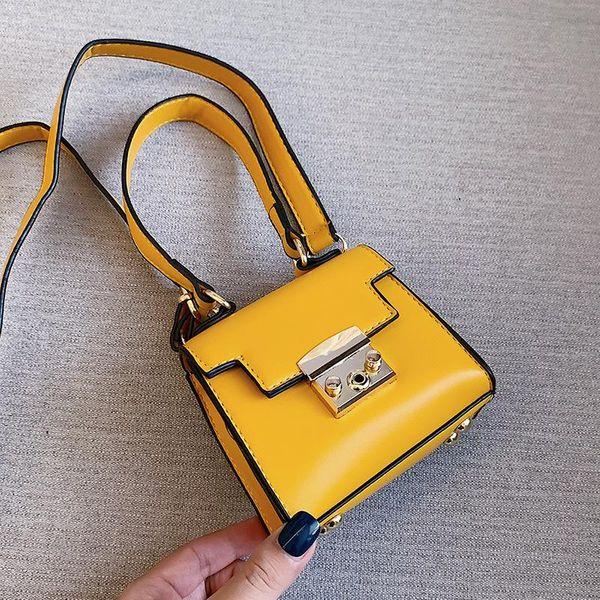 Portable small square bag 2019 new fashion simple wild lock single shoulder messenger bag NHLD187229