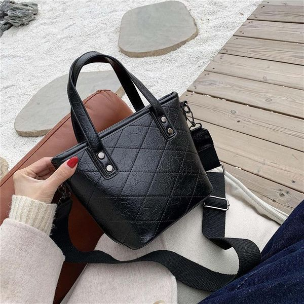 Stylish temperament wild rhombus bucket bag handbag shoulder slung NHLD187236
