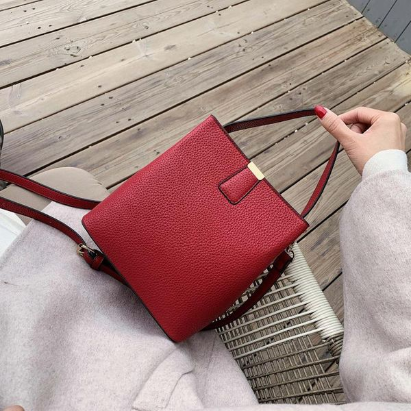 Shoulder bag women's embroidery cross-body large-capacity bucket bag simple women's wholesale NHLD187254