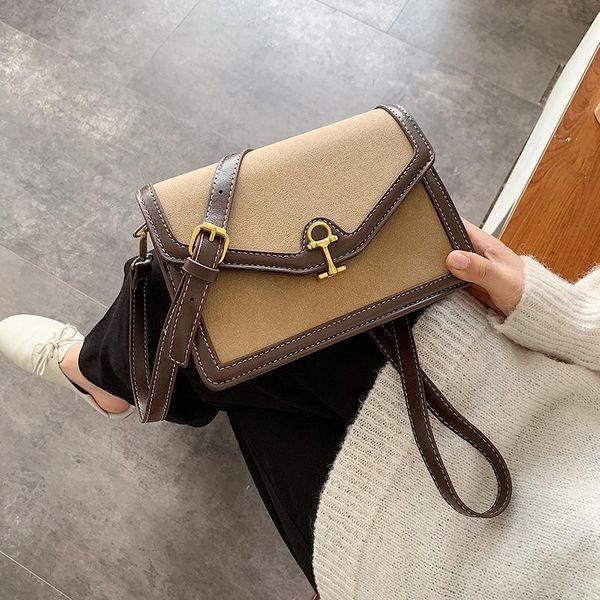 Wild personality small square bag winter shoulder Messenger bag fashion bag NHLD187257