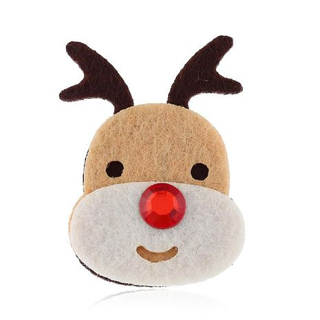 Christmas brooch temperament deer head Christmas gift box gift wholesale NHKQ187326's discount tags