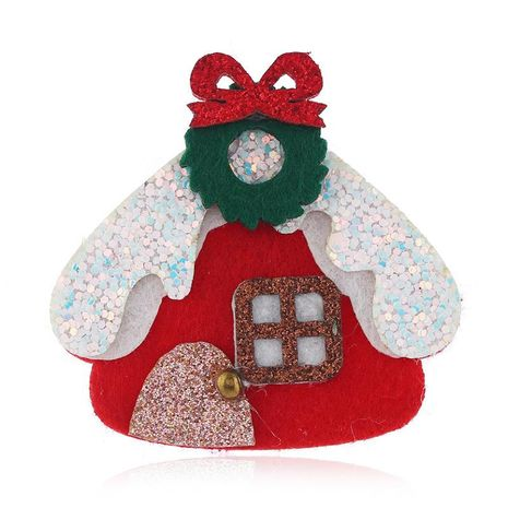 Christmas House Brooch Bell Christmas Gift Box Gift Wholesale NHKQ187325's discount tags