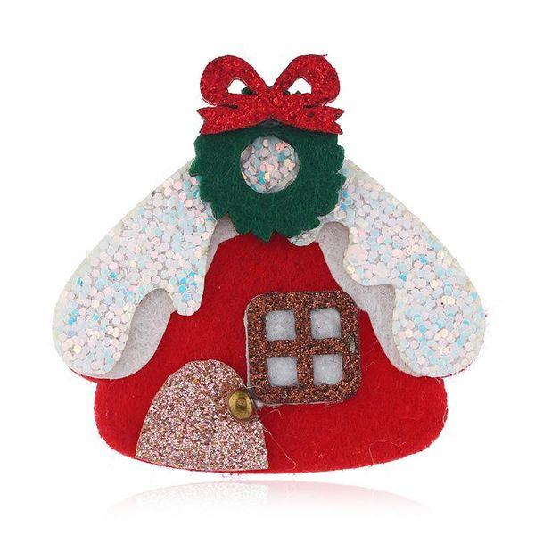 Christmas House Brooch Bell Christmas Gift Box Gift Wholesale NHKQ187325
