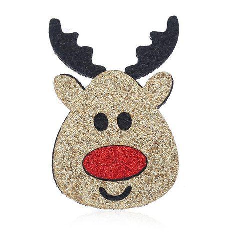 Tela vintage delicado broche de cabeza de ciervo de Navidad al por mayor NHKQ187332's discount tags