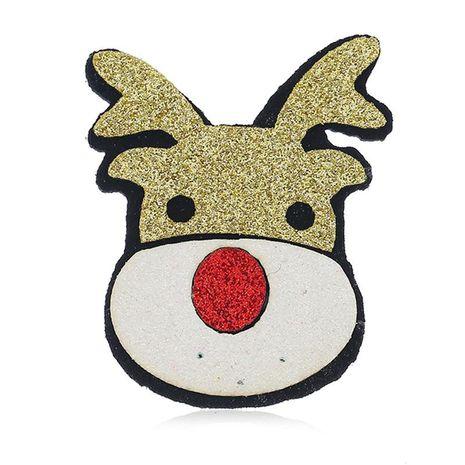 Vintage tela delicada broche cabeza de ciervo de Navidad NHKQ187333's discount tags