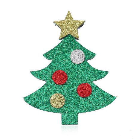 Vintage fabric Christmas tree delicate brooch NHKQ187338's discount tags