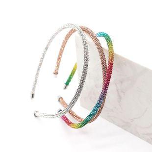 El nuevo aro de pelo de diamante completo de temperamento simple de moda NHWJ187592's discount tags
