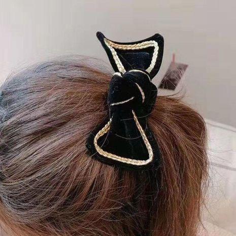 Accessoires de cheveux arc simple flanelle sauvage voyage à la maison tir de rue accessoires de cheveux de loisirs pinces à cheveux NHWJ187593's discount tags