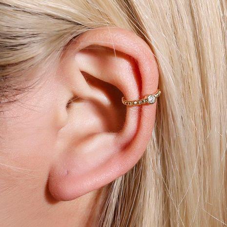 Metal beads u-shaped ear clip temperament pierced earrings simple diamond mini earrings NHDP187640's discount tags