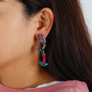 Fashion vintage personality crayfish diamond earrings NHKQ187336's discount tags