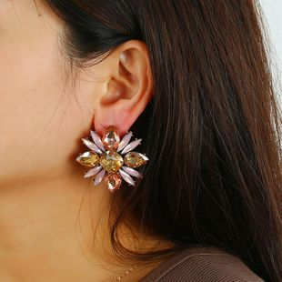 Vintage rhinestone earrings diamond earrings female earrings geometric earrings jewelry NHKQ187366's discount tags