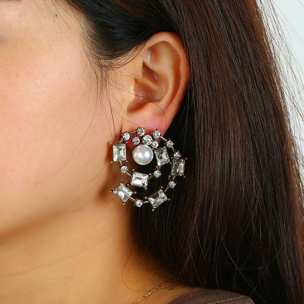 Jewelry Retro Spiral Zinc Alloy Ear Studs Fashion Earrings Wholesale NHKQ187365