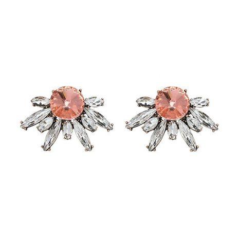 New chrysanthemum glass diamond earrings Korean retro earrings NHJJ187307's discount tags