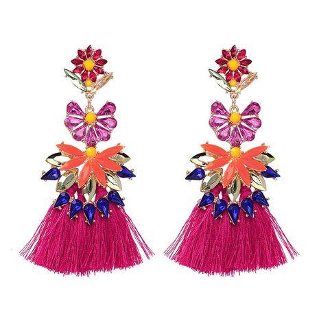 Women's earrings with diamonds and tassel earrings NHJJ187308's discount tags