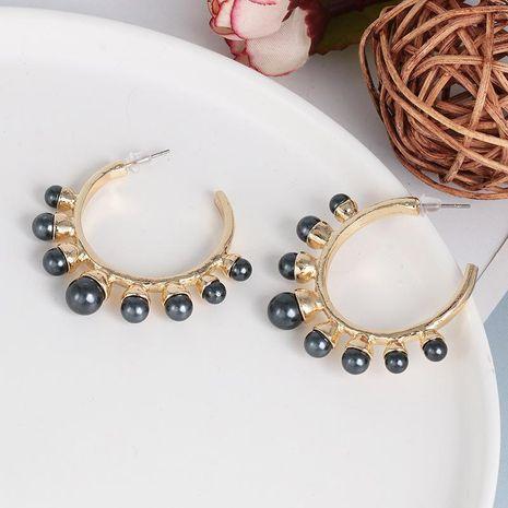Korea C-shaped pearl earrings vintage earrings wholesale NHJJ187313's discount tags