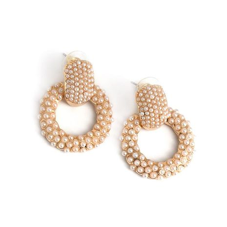 New geometric earrings pearl short earrings fashion earrings wholesale NHJJ187269's discount tags