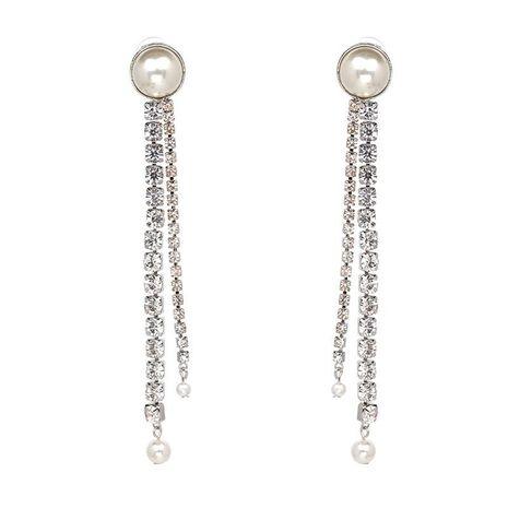 Pearl tassel earrings hot jewelry earrings wholesale NHJJ187271's discount tags