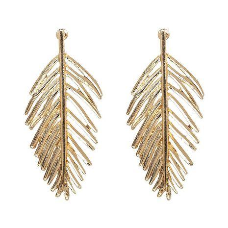 Alloy leaf earrings gold earrings earrings wholesale NHJJ187292's discount tags