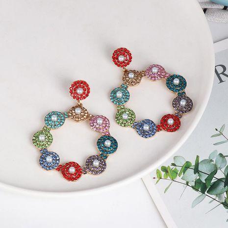 Colored diamond earrings women's crystal earrings NHJJ187294's discount tags