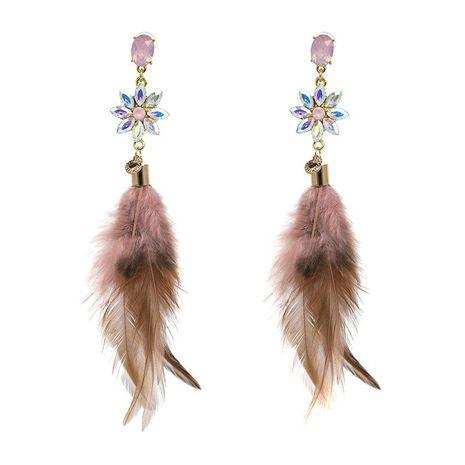 Accessoires nouvelles boucles d'oreilles plumes pompon boucles d'oreilles bijoux NHJJ187296's discount tags