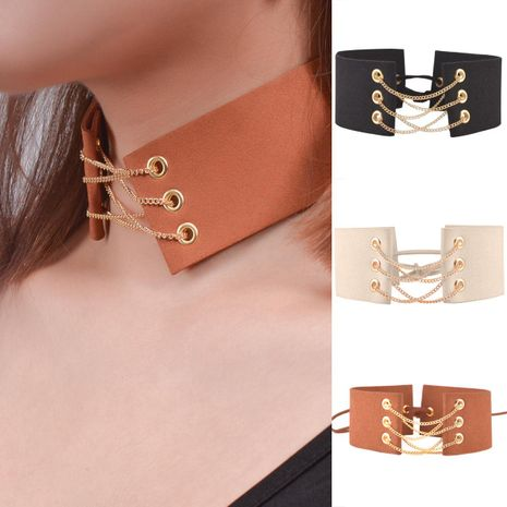 Fashion Jewelry New Necklace Wide Velvet Women's Necklace Collar NHXR187458's discount tags