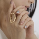 Jewelry Simple Fashion Geometric Ring Bracelet Female Punk Metal Curved Oring NHXR187442