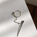 Siamese ring chain pendant insert trendy ring NHYQ187577