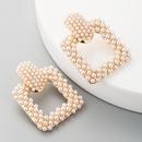 earrings fashion wild geometric alloy pearl earrings women NHLN187662