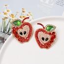 New fruit apple earrings diamond earrings wholesale NHJJ187295