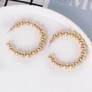 Fashion Simple Cshaped Plating Gold Pearl Hoop Earrings Wholesale NHJJ187298
