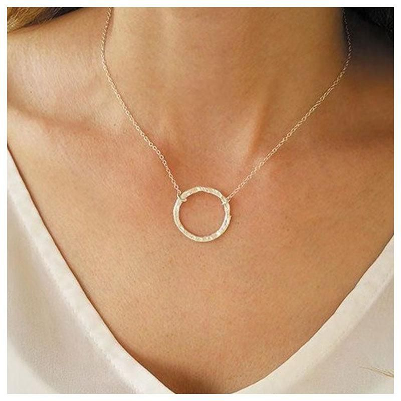 Popular jewelry round alloy accessories simple clavicle chain necklace women Chain necklace NHCT187696