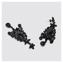Fashion Black Long Drop Earrings  Exaggerated Full Diamond Ear Stud Earrings NHCT187700