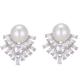 Korean Fashion Sweet OL Simple Bright Zircon Pearl Earrings NHSC187410