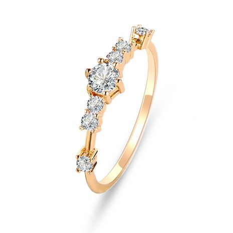 Fashion flash diamond copper ring with zircon ring NHDP187629's discount tags
