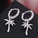 Delicate Korean fashion female earrings copper micro inlaid zircon banana tree temperament earrings earrings earrings NHSC187691