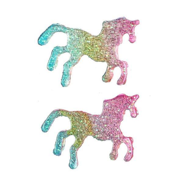 New Color Pony Earrings Animal Earrings Glitter Pony Earrings Women Jewelry NHGY187749