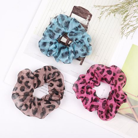 New leopard fabric hair ring sexy hair tie flower elastic headband NHJE187771's discount tags