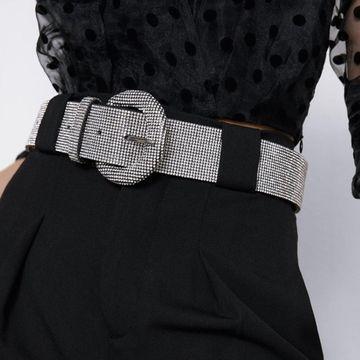 Cinturón de diamantes de aleación cinturón de diamantes completo de lujo sello de cintura colorido NHJQ187778