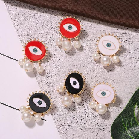 Earrings Alloy Pearl Eye Earrings NHJQ187792's discount tags