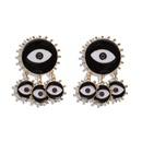 Earrings Alloy Pearl Eye Earrings NHJQ187792