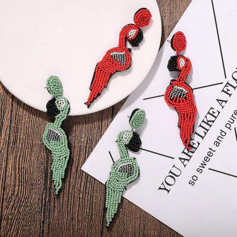Mizhu Earrings Woodpecker Earrings Unique Earrings Pop NHJQ187795's discount tags